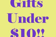 Gifts Under $10 / Perfect last minute gifts or stocking stuffers for under $10.