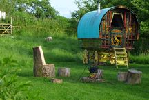 something to do / Why not try staying in a beautiful gypsy caravan and live a life lost to the past for a few days?