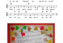 písničky podzim