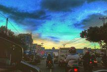 behind Sunset