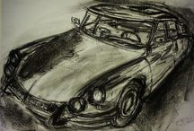 Observational drawings of cars / drawings and paintings from observation