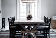 Dining tables, dining rooms