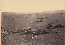"""Civil War / """"I will not take my regiment in another such charge if Jesus Christ himself should order it."""" - Union Captain T.E. Barker after his regiment's ill fated attack on Rebel positions at the battle of Cold Harbor, Virginia"""