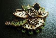 craft: zipper brooch