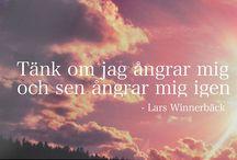 WINNERBÄCK / Lars Winnerbäck, lyrics och citat