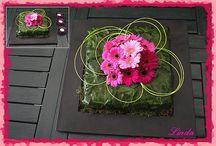 Bloemschikken / Ideas for flowerdecorations