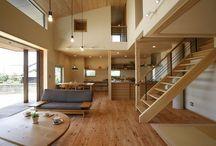 床 壁 木の色味