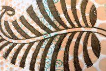 Textile design - Hand Stitching tree