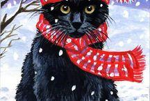 Kočky vánoce