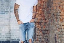 White t-shirt + jeans possibilities