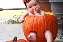 haloween pumpkin baby poses