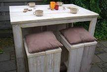 Bar tafels / Steigerhout