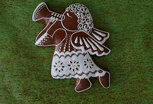 Vánoce-perníky-andílci,sněhuláci