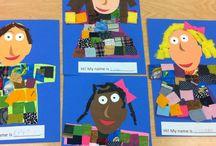 Self portrait / Kindergarten art