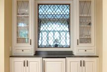 Glass Doors & Custom Cabinets / Cabinet Design ideas incorporating glass doors. Great design ideas for your kitchen.
