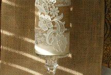 cuvaldan dekoratif urunler mum  kavanoz örtü