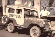 Carros antigos com publicidade