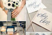 my lovely navy royal blue wedding! / Royal blue/ navy and white wedding theme