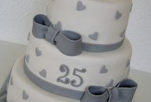 Bolos Bodas de Prata / Inspiração em diversos artistas e ateliers de cake design do Brasil e do mundo.