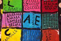 lettres et prénoms / pour travailler le prénom et les lettres