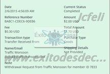 Comprobantes de pago de Trafficmonsoon