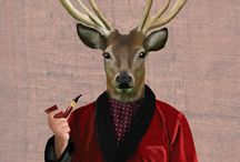 deer, wolf.. design