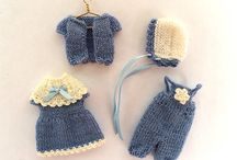 Miniature doll clothes / Beautiful miniature doll clothes made by me and my friends