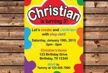 Playdough Birthday Party
