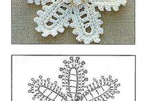 かぎ針編みのスノーフレーク
