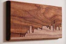Изобразительное искусство из дерева