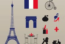 french culture / symbols, artworks and textiles