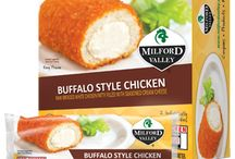 Our Chicken Products / Explore the variety and flavors of Milford Valley chicken products: chicken entrees, stuffed chicken minis, chicken strips and chicken nuggets.