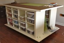sewing room organization / by Barb Mikielski