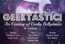 Geektastic! Show / Inspired by themes and dances from our upcoming stage show, Geektastic! An Evening of Geeky Bellydance on April 18th in Durham, NC
