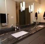 Double Master Vanities / A nice collection of his and her bathroom vanities with various counter tops.