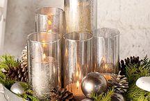 Holiday centerpiece / Candle arrangement