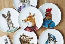 animal plates