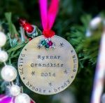 Personalized Christmas Ornaments - Hand Stamped / by Something About Silver