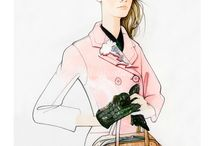 Fashion illustrations by Nuno da Costa