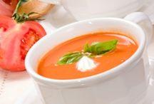 zopa de zanahoria y tomate