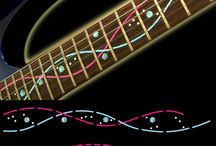 "DNA / inlay sticker ""DNA"" guitar/ukulele decals"