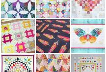mini quilts swap inspiration / Mini quilts that I love and would love to have made for me by a swap partner and colors to inspire you.