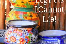 """Mexican/Talavera Pottery / <a data-pin-do=""""embedBoard"""" href=""""http://www.pinterest.com/catsrule3/pottery/""""data-pin-scale-width=""""80"""" data-pin-scale-height=""""200"""" data-pin-board-width=""""400"""">Follow Robin's board Pottery on Pinterest.</a><!-- Please call pinit.js only once per page --><script type=""""text/javascript"""" async src=""""//assets.pinterest.com/js/pinit.js""""></script>"""