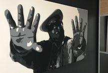 """NOTORIOUS B.I.G en """"Leather-art"""" by DIMENSYON / NOTORIOUS B.I.G en """"Leather-art"""", superposition de 5 couches de cuir de différentes couleurs by DIMENSYON"""
