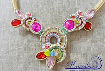 Soutache Marecalmo Bijoux / Soutache artistic jewelry.