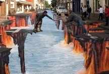 3 D art + grafity