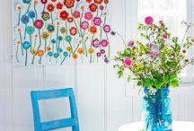 Pared con flores