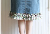 DIY denim skirts / by Melissa Perez