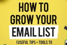 Email Marketing + Newsletters Made Easy / Tips to grow your email list, write nurture and sales emails and generally be Queen of the sales funnel.  All pins are aimed at improving open rates, click through rates and conversions. It's help from the pros to make your marketing sing.   Marketing tips, content marketing, email marketing, newsletters, sales funnels, course launch, webinar emails, templates, scripts.
