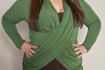 Clients - Plus Size Clothes / These vertical side panels are amazing at creating a slimmer look.  The pattern is also not too loud and would blend well with other outfits.